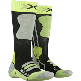 X-Socks Ski 4.0 Socks Kids anthracite melange/green lime